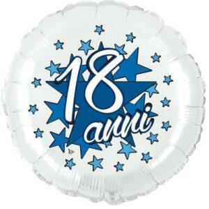 """Mylar 18 Anni Celeste 18"""""""