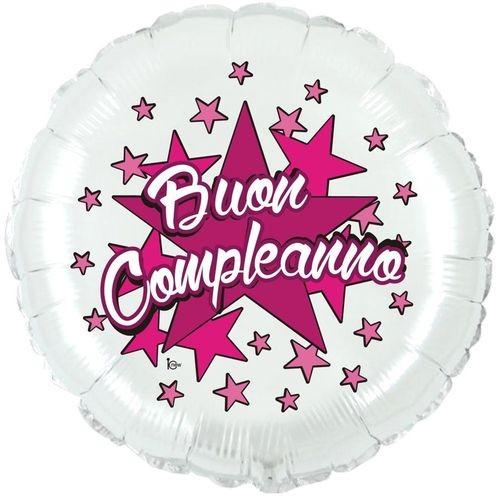 Mylar Buon Compleanno Rosa 18
