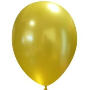 "Palloncini in Lattice Metallizzati 11"" Giallo"