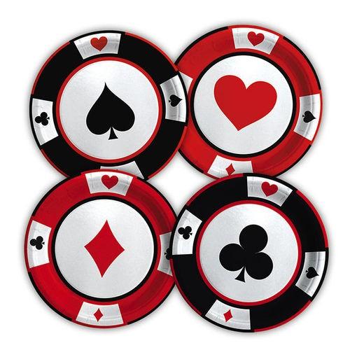 Piatto cm 18 Poker