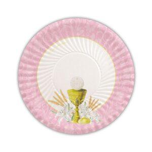 Piatto 18 cm Comunione Rosa