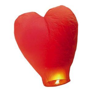 Lanterna cuore rosso 100 cm Quantità 1 pezzo