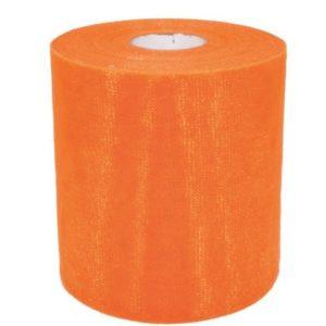 Rotolo di Tulle Arancione Tulle Arancio Rotolo da 100 metri Dimensione: 12,5 cm