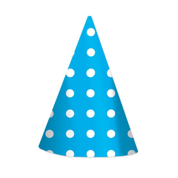 cappellini pois azzurri