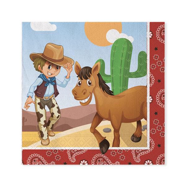 Tovaglioli Festa a tema cowboy