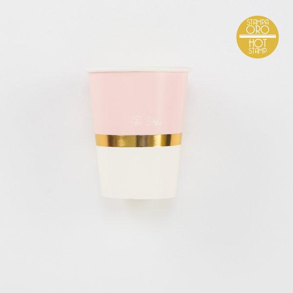 bicchieri oro e rosa