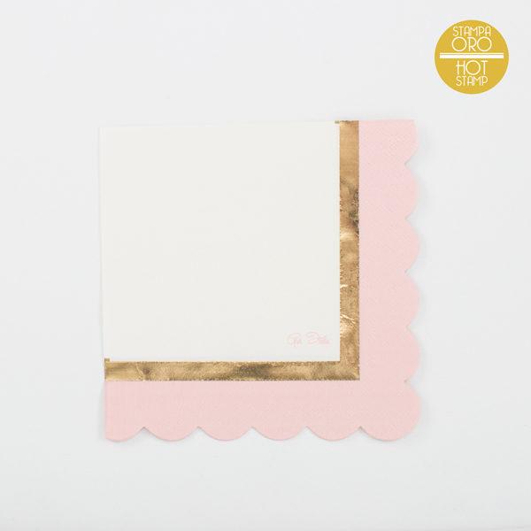 Tovaglioli oro e rosa