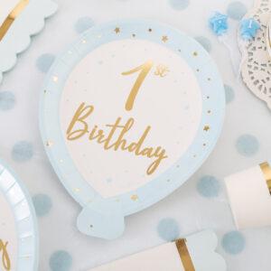 Primo compleanno baby chic azzurro