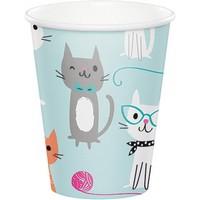 Bicchieri festa a tema gattini