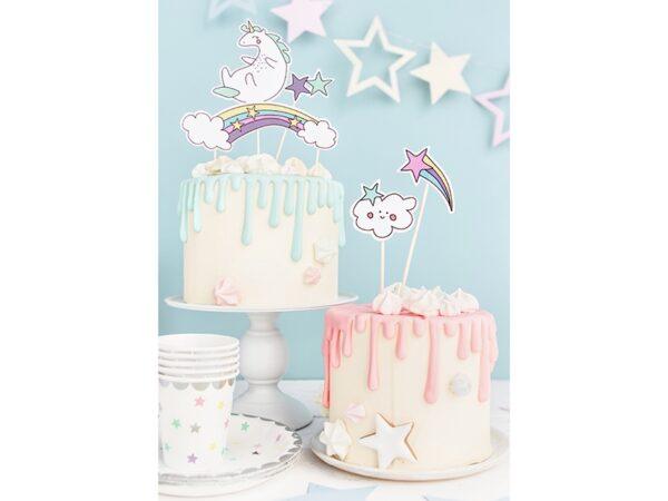 festa a tema unicorno cake topper