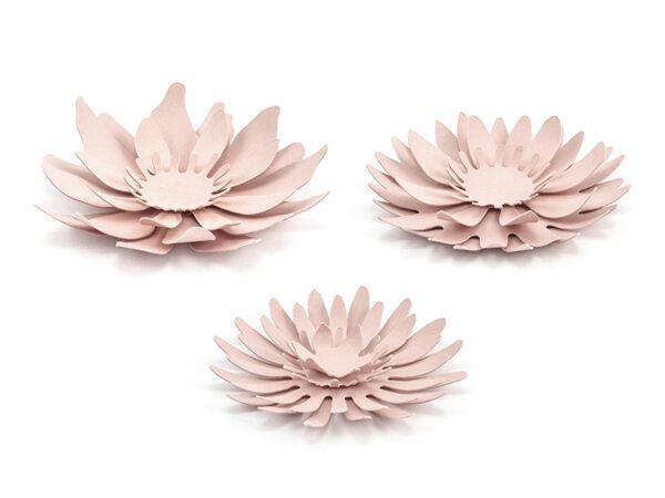 set fiori rosa cipria in carta