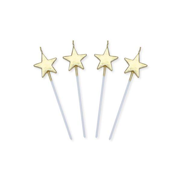 candeline stelle oro