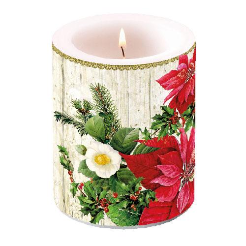 Centrotavola Stella Di Natale.Candela Stella Di Natale