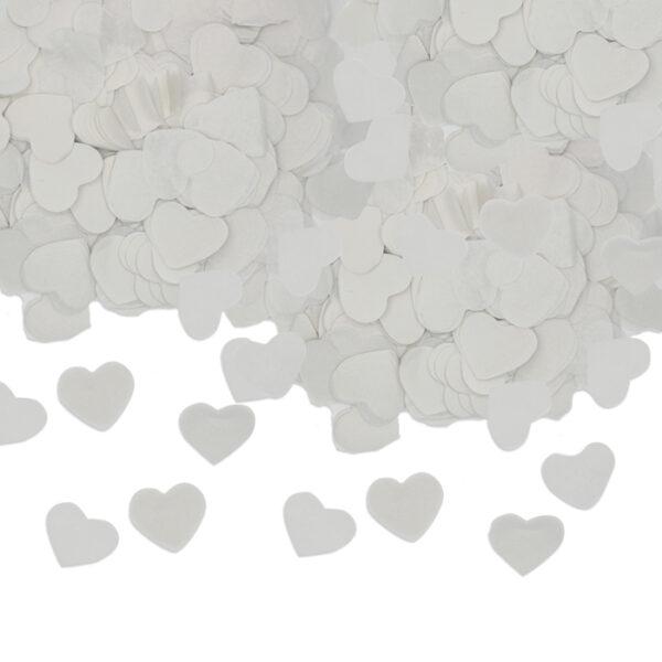 coriandoli a forma di cuore bianco
