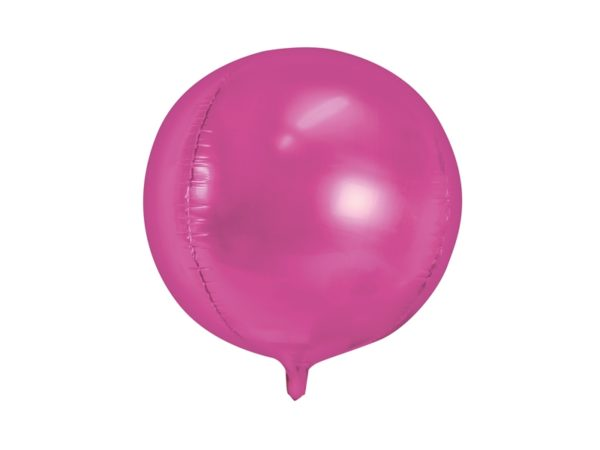palloncino fucsia Palloncini in foil a forma di sfera. Gonfiaggio ad Elio Dimensione: 40 cm