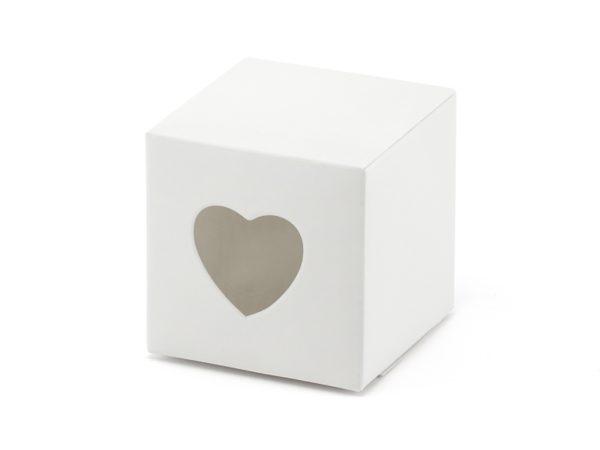 Box bianco con cuore