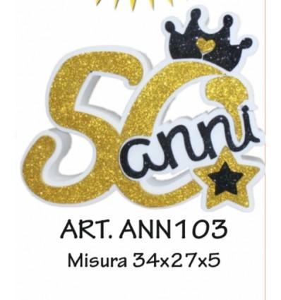 numero-50-oro-e-nero-in-polistirolo