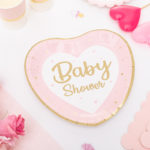 decorazioni baby shower rosa