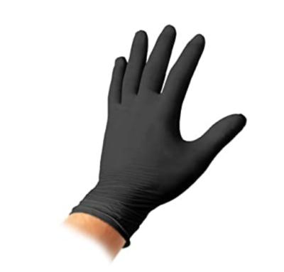 guanti in nitrile nero