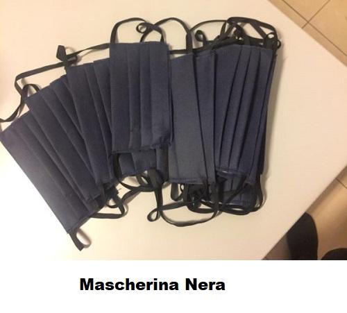 Mascherina Nera in TNT 1 Pz.