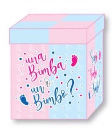 box surprise baby shower palloncini