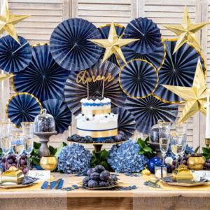 festa a tema Blu e Oro