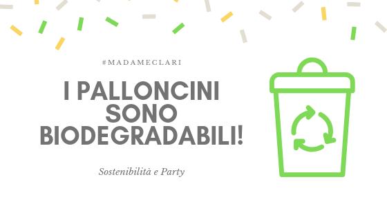 Festa di compleanno ecologica