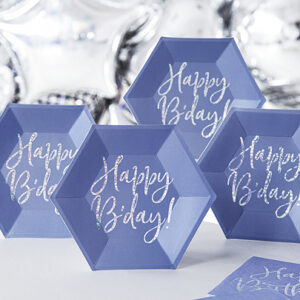 Happy Birthday Blu Iridescente
