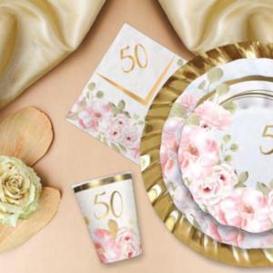 50 anni di matrimonio floral
