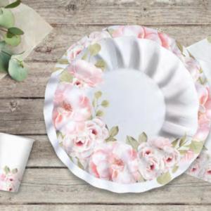 festa a tema Floral fiori rosa