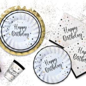 Linea Happy Birthday nero e bianco