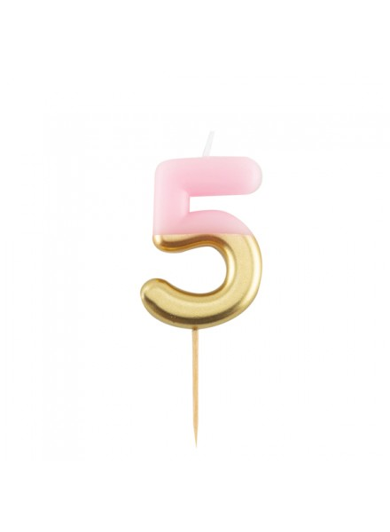 1-candelina-cinque-rosa-con-finitura-oro-metal
