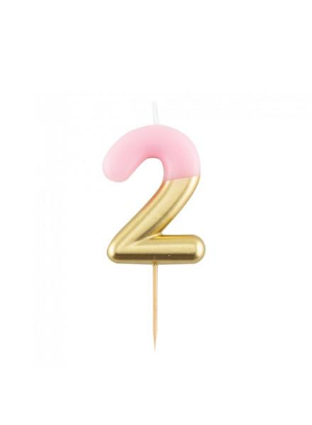 1-candelina-due-rosa-con-finitura-oro-metal