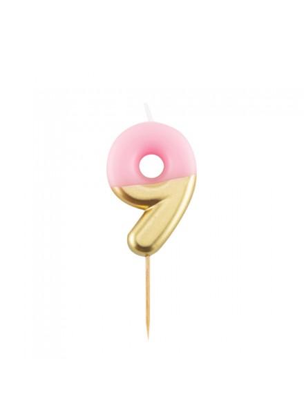 1-candelina-nove-rosa-con-finitura-oro-metal