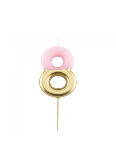 1-candelina-otto-rosa-con-finitura-oro-metal