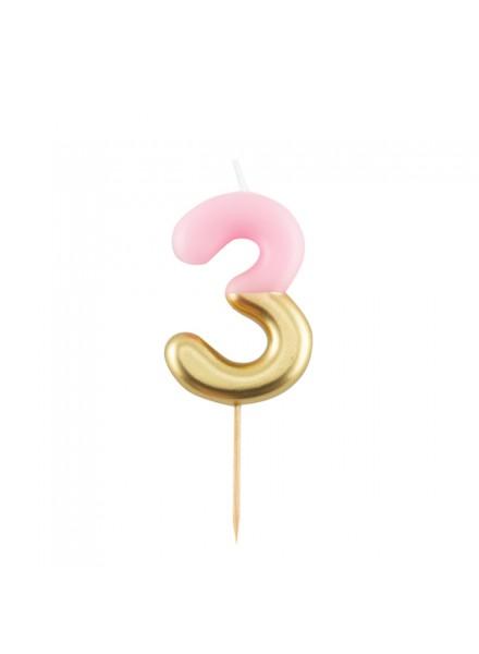 1-candelina-tre-rosa-con-finitura-oro-metal